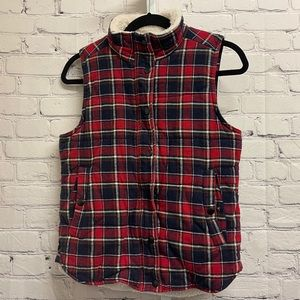 STARING AT STARS - Check Flannel Vest